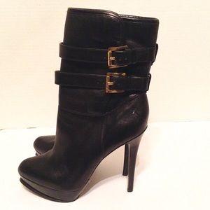 Michael Kors Stiletto, Leather Biker Boots - 8.5